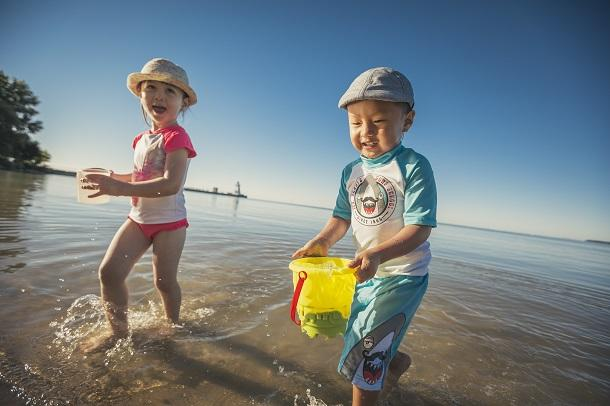 Kids playing on Port Dover beach