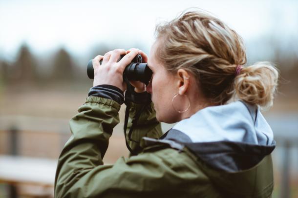 Woman Birding