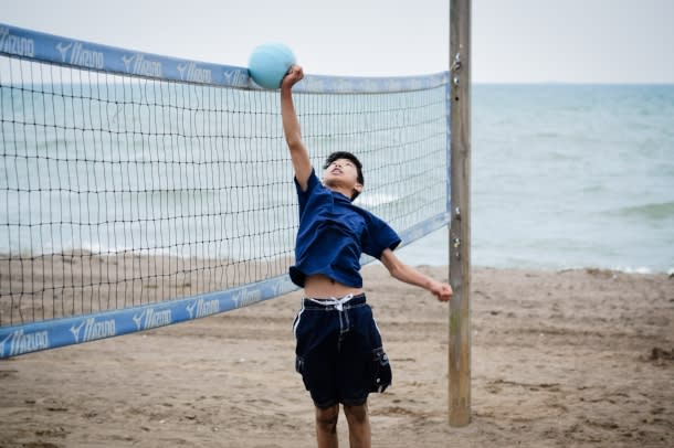 beach volleyball at Colchester