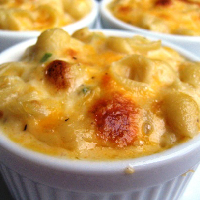 Mac and Cheese in individual ramekins from Soul Food