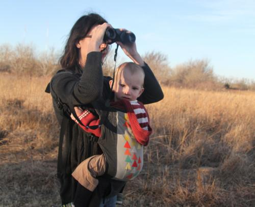 Mom & Child Bird Watching