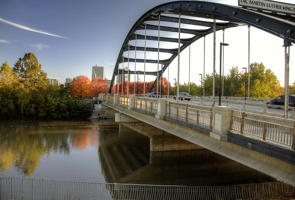MLK Bridge Fall - Fort Wayne, IN