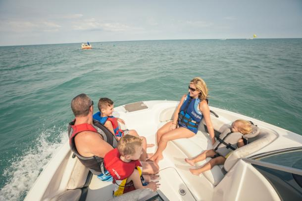 Lake Huron Boating family