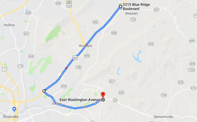 Blue Ridge Parkway Detour Route