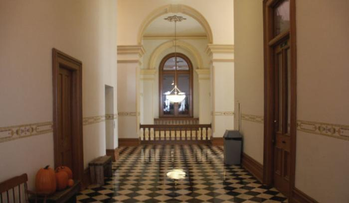 Crown Point Courthouse interior