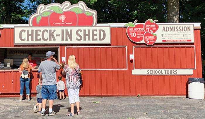 County Line Orchard Check-In Shed