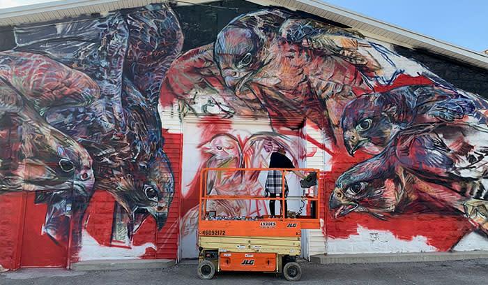 Rensselaer Public Art Walk - hawks