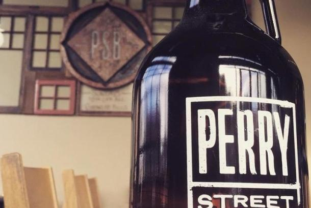 Locally crafted beer at Perry Street Brewing