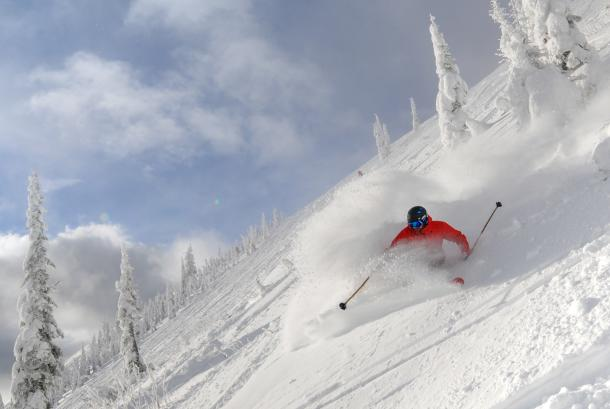 Powder skiing at Schweitzer Mountain Resort