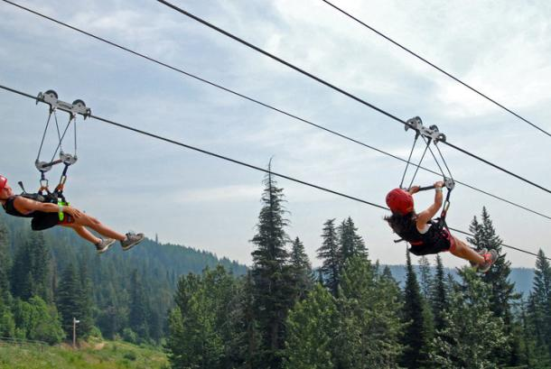 Zip Line at Schweitzer Mountain Resort
