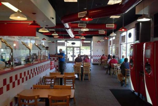 Five Guys Burgers Inside