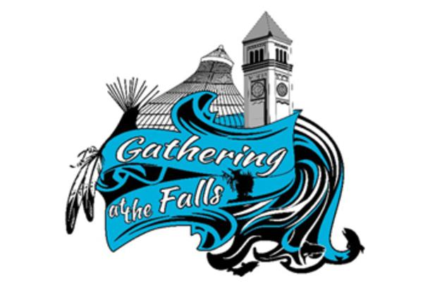 Gathering at the Falls Powwow logo