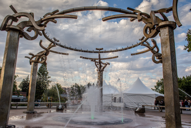 Rotary Fountain at Riverfront Spokane