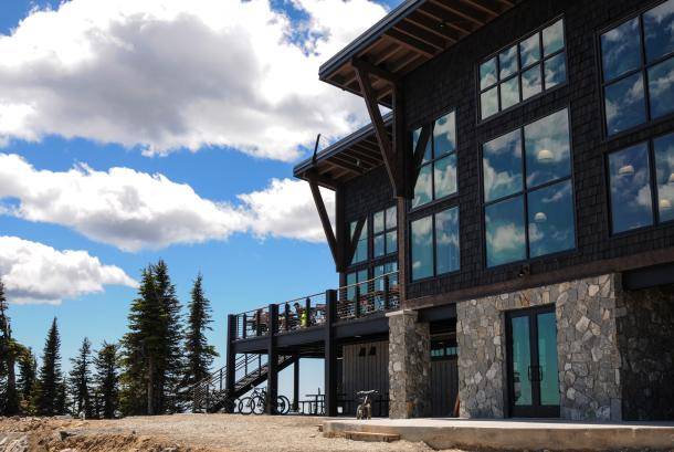 Enjoy a fantastic meal at Sky House on Schweitzer's summit.