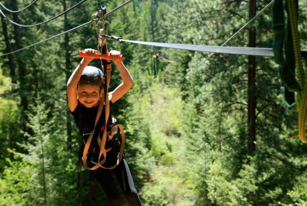 Zippin and smiling!