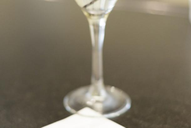 Martini with Grand napkin