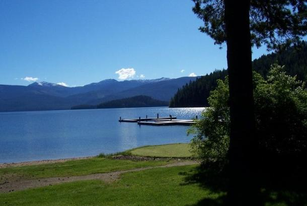 View of Priest Lake from Hill's