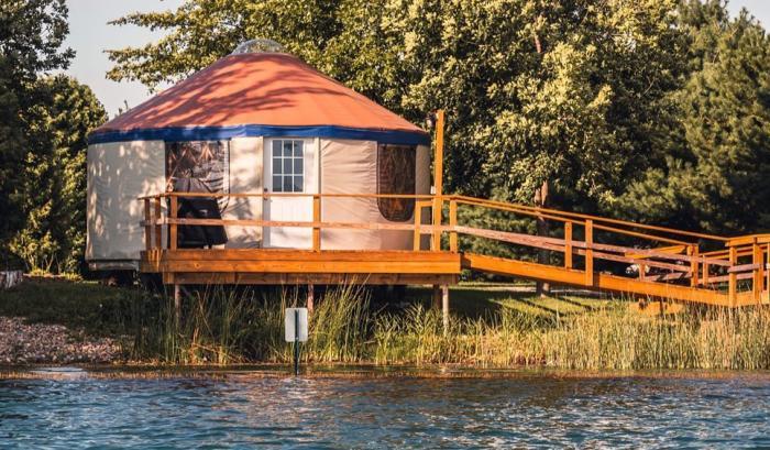 Yurt Rental at Caboose Lake