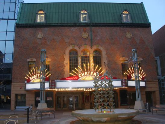 Outside the Historic Chateau Theatre