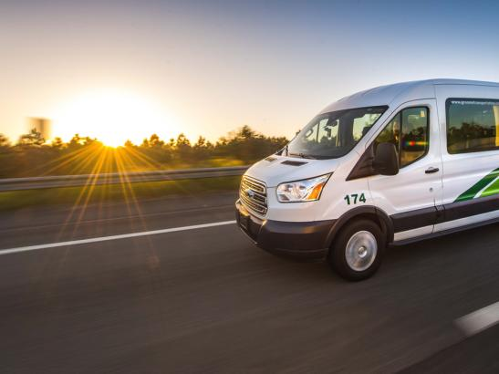 Groome Shuttle | credit Groome Transportation