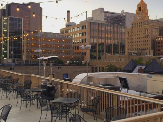 Kathy's Pub Rooftop View