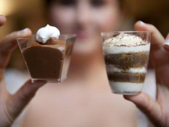 Mini Tiramisu & Chocolate Mousse
