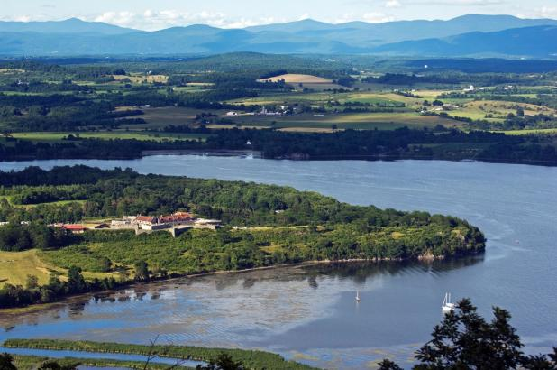 Fort Ticonderoga from Mt. Defiance