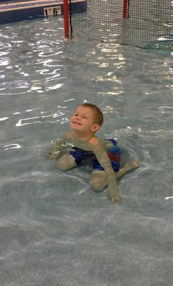 Playing at Splash Island Indoor Park