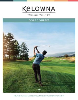 Golf Kelowna Brochure