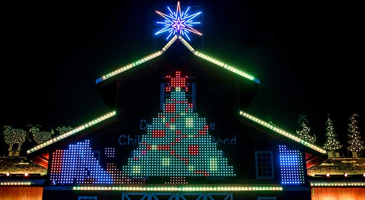 Deanna Rose Farmstead Christmas Display in Overland Park