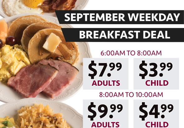 September Weekday Breakfast Deal