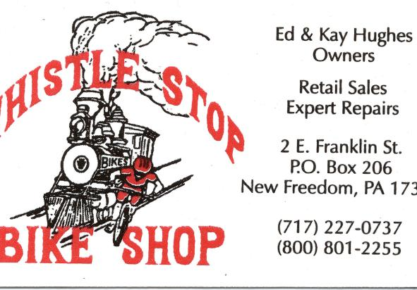Whistle Stop Bike Shop Card