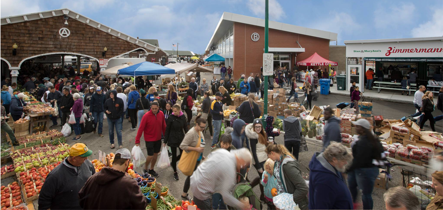 Shoppers at Rochester Public Market