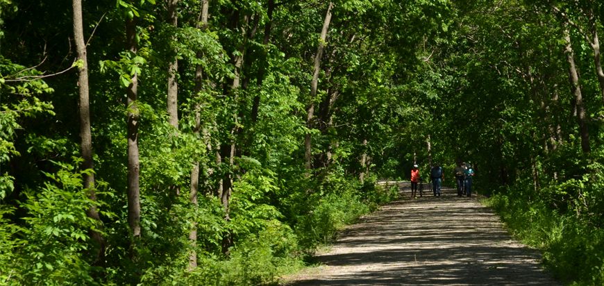 Bike riders enjoying the Flint Hills Nature Trail in Ottawa, KS