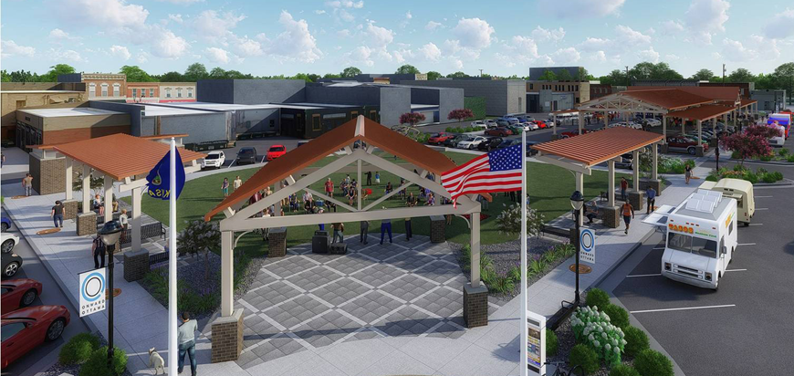 Rendering of Legacy Square in Ottawa, KS
