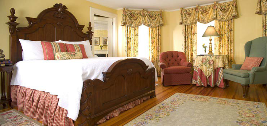 A suite at the Pinecrest Bed & Breakfast in Asheville, NC.