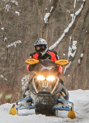 Snowmobiling on the Erie Canal Recreational Trail
