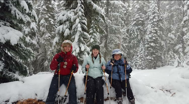Snowshoeing at Willamette Pass by Hayley Radich
