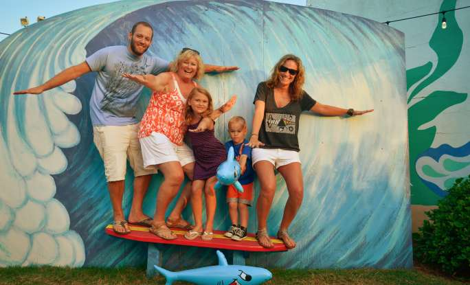 Carolina Beach Wave Family