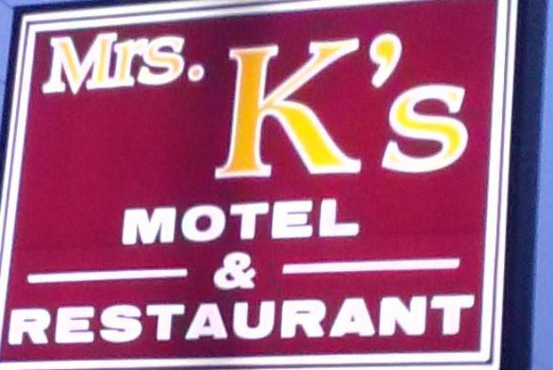 Mrs Ks Restaurant sign