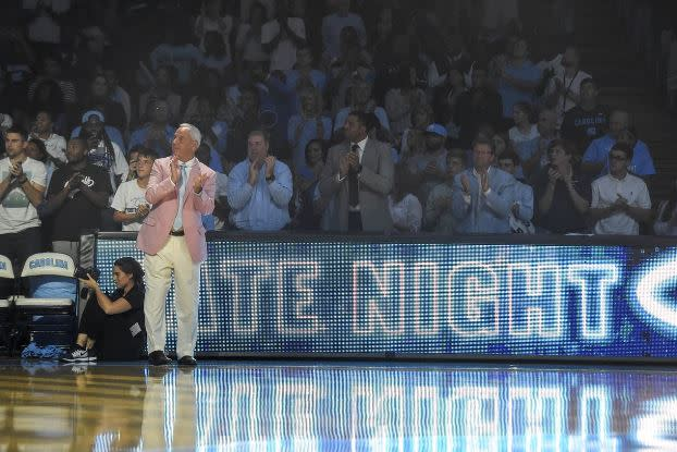 Roy Williams on Court at Late Night w Roy