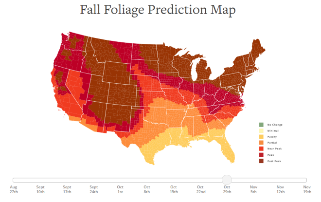 2018 Fall Foliage Prediction Map