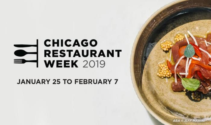 Chicago Restaurant Week banner 2019