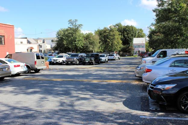 Parking lot at Everedy Square & Shab Row