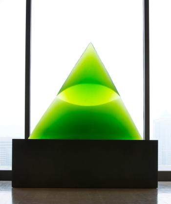 Tacoma Art Museum Glass Art Exhibit - Green Eye of the Pyramid III