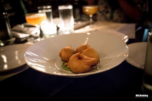 Blue Crab Beignets at restaurant calla | Michael L. Hobby