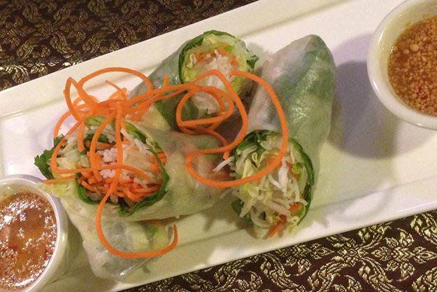 Spring Rolls at Rutherford Thai
