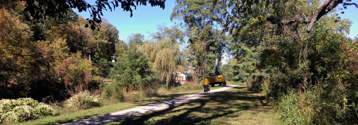 Biking Along Delaware