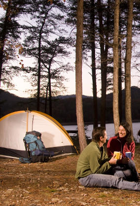 Couple Camping - Camping
