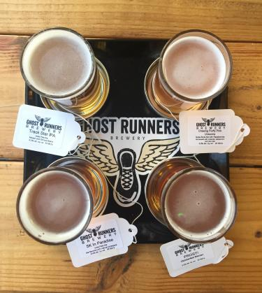$3 tasting flight at Ghost Runners Brewery